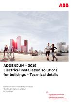 ADDENDUM – 2019 Electrical installation solutions for buildings – Technical details - 1