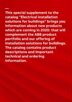 Electrical installation solutions for buildings Product news 2020 - 2