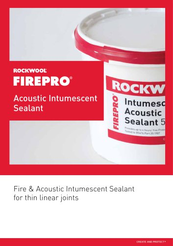 ACOUSTIC INTUMESCENT SEALANT