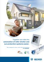 Main catalogue roller shutter and sun protection automation