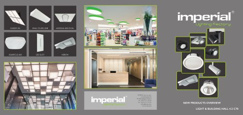 NEW PRODUCTS OVERVIEW LIGHT & BUILDING HALL 4.2 C70