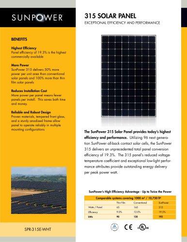 315 Solar Panel datasheet