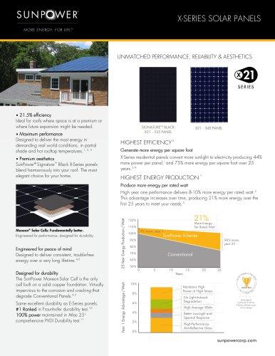 X21-Series - Sunpower - PDF Catalogs | Documentation | Brochures