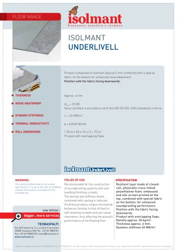 Isolmant UnderLivell