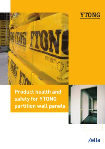 Product health and  safety for YTONG  partition wall panels