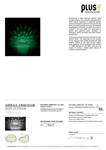 AIRBALL ARMCHAIR Light Outdoor