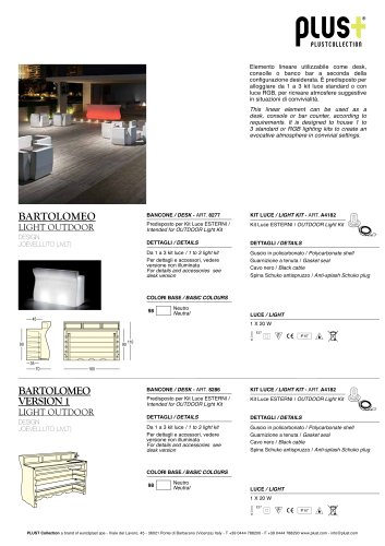 BARTOLOMEO LIGHT OUTDOOR