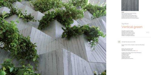 Green vertical wall