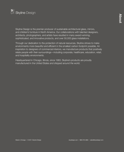 Skyline Design Product Catalogue