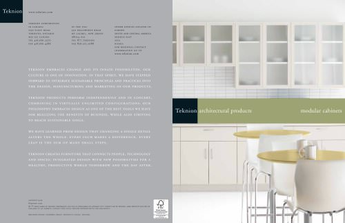 Architectural Products:Modular cabinets