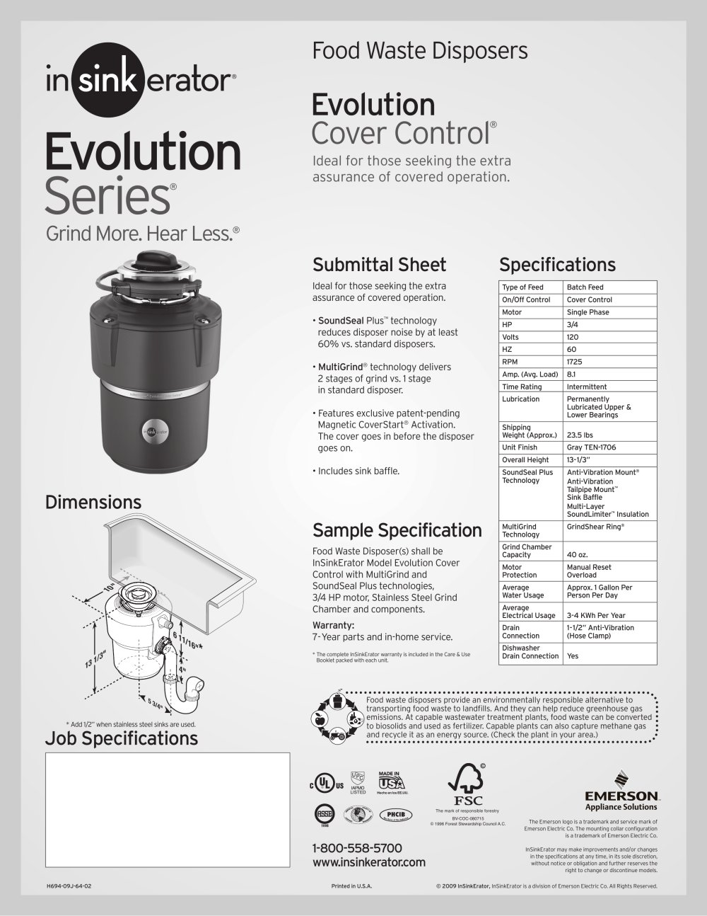 Evolution Cover Control 1 Pages