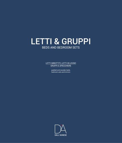 LETTI & GRUPPI BEDS AND BEDROOM SETS