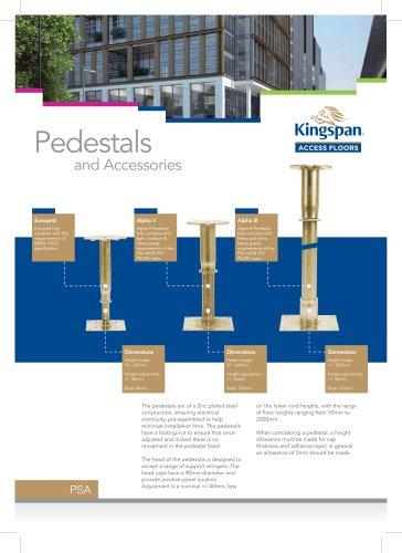 Pedestals and Accesories Datasheet