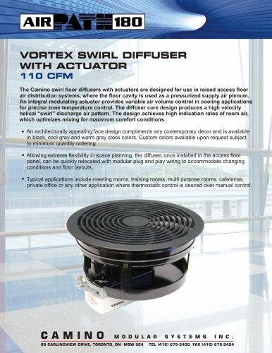 Vortex Swirl Diffuser with Actuator