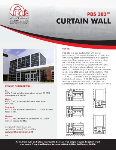 PBS 383 Curtain Wall - ARCH Aluminum & Glass Co , Inc  - PDF