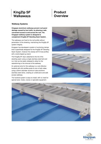 KingZip SF Walkways Product Overview