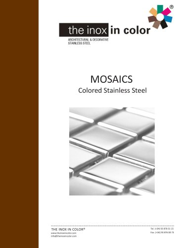 STAINLESS STEEL TILES AND MOSAICS