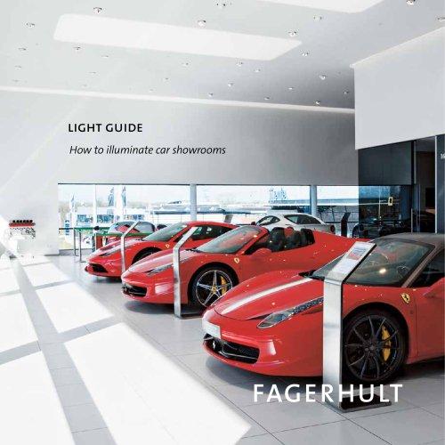 How to illuminate car showrooms