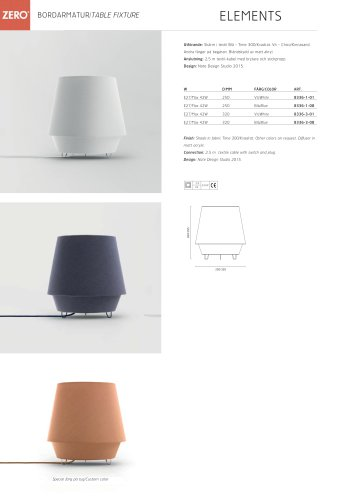 GOLVARMATURER/ TABLE FIXTURE