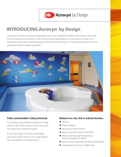 Acrovyn by Design Intro Flyer