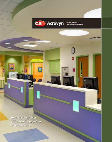 Nurse Stations, Reception Desks, and Cafés Flyer