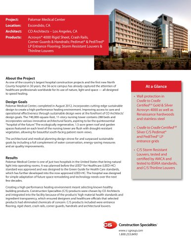 Palomar Medical Center Case Study