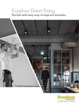 Ecophon Direct Fixing The fast and easy way to improve acoustics