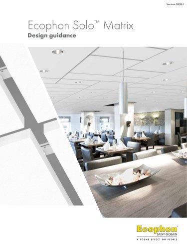 Ecophon Solo™ Matrix Design guidance