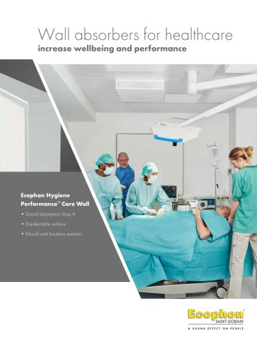 Wall absorbers for healthcare