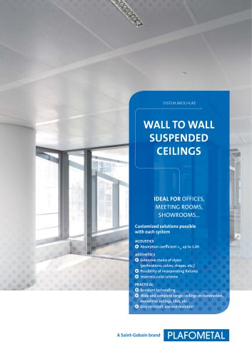 WALL TO WALL SUSPENDED CEILINGS