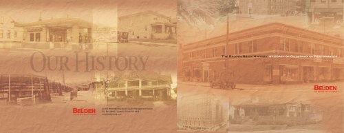 Belden Brick History