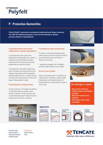 P - Protection Geotextiles