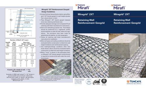 TenCate Miragrid® 2XT for Retaining Wall Reinforcement