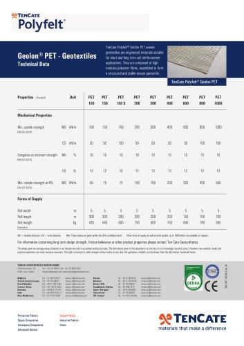TenCate Polyfelt Geolon® PET