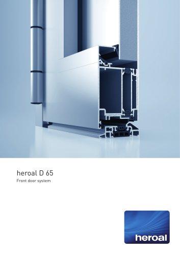 heroal D 65 front door system
