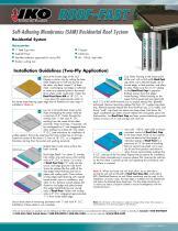 Self-Adhering Membranes (SAM) Residential Roof System - 2
