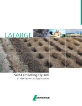 Self-Cementing Fly Ash in Geotechnical Applications - 1