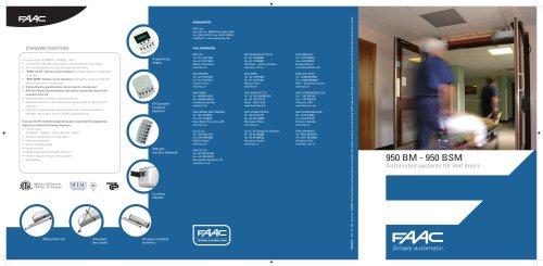 Doors operator:950 (superseded by 950N) swing door operator