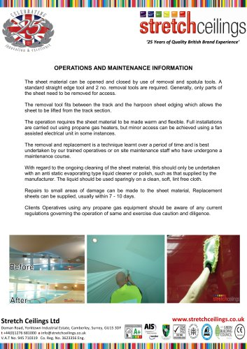 OPERATIONS AND MAINTENANCE INFORMATION
