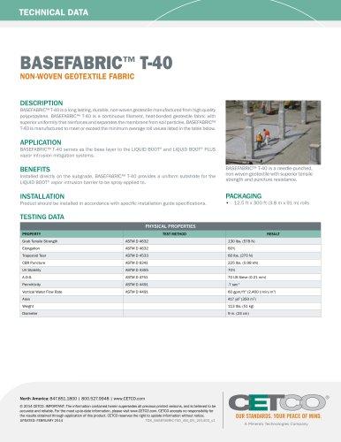 BASEFABRIC™ T-40