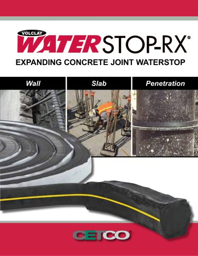 Expanding Concrete Joint Waterstop Wall Slab