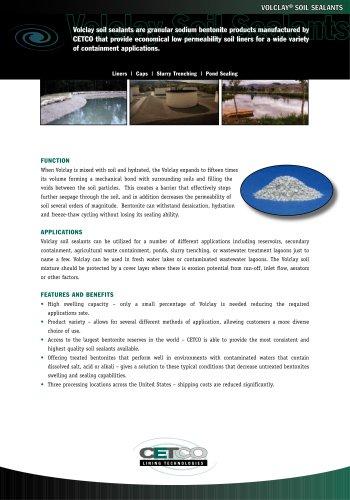 VOLCLAY® SOIL SEALANTS