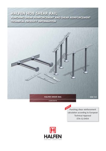 HDB Shear Rail - HALFEN - PDF Catalogs | Documentation