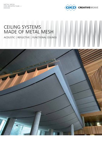 CEILING SYSTEMS MADE OF METAL MESH