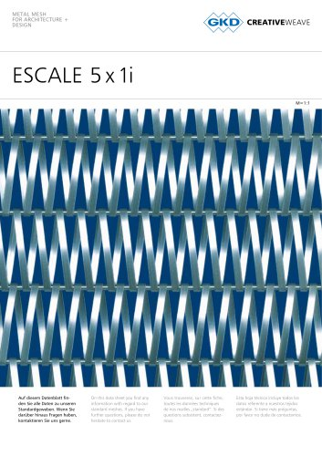 ESCALE 5 x 1i