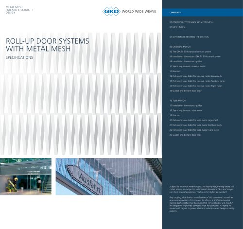 ROLL-UP DOOR SYSTEMS WITH METAL MESH