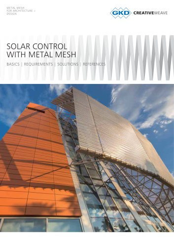 SOLAR CONTROL WITH METAL MESH
