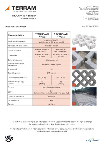 TRUCKPAVE porous pavers