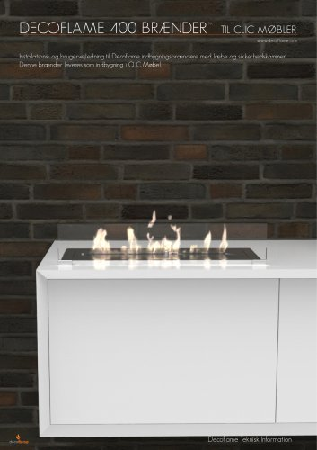 Built-in burner™ in Clic furniture technical card
