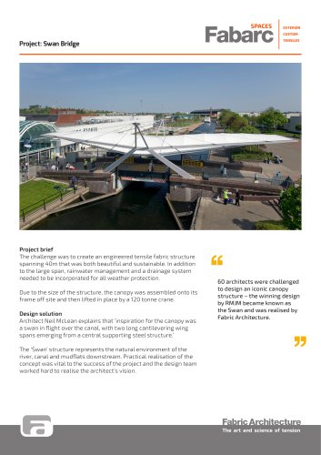 Swan Bridge - Fabric Architecture - PDF Catalogs